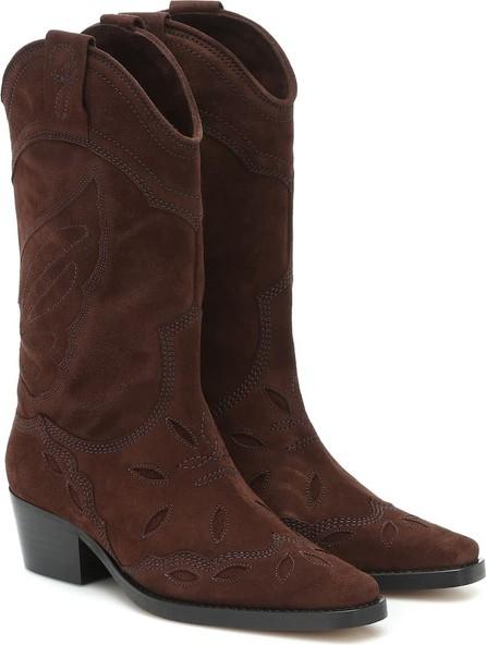 Ganni High Texas suede cowboy boots