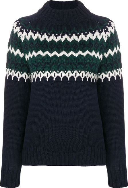 &Daughter zig zag knit jumper