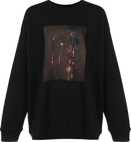 Adaptation burning palm tree print sweatshirt