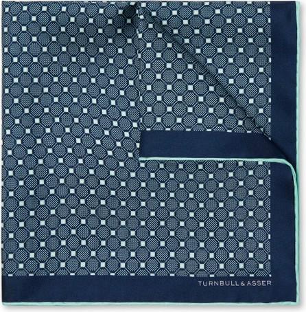 Kingsman + Turnbull & Asser Rocketman Printed Silk-Twill Pocket Square
