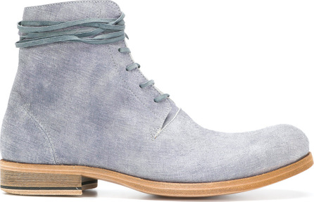 Individual Sentiments Textured lace-up boots