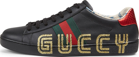 Gucci Ace Guccy Leather Sneaker