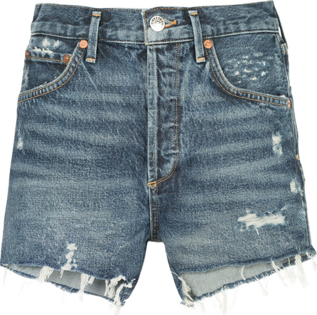 Agolde Jaden distressed denim shorts