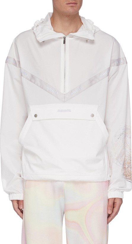 Angel Chen Embroidered Tiger Print Sleeve Anorak