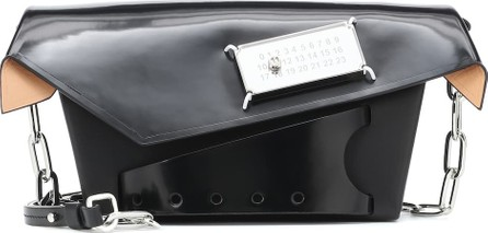 Maison Margiela Snatched Small patent leather clutch