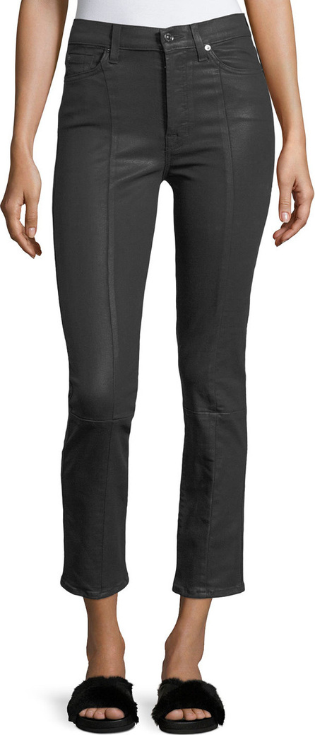 7 For All Mankind Edie Skinny-Leg Coated Pants