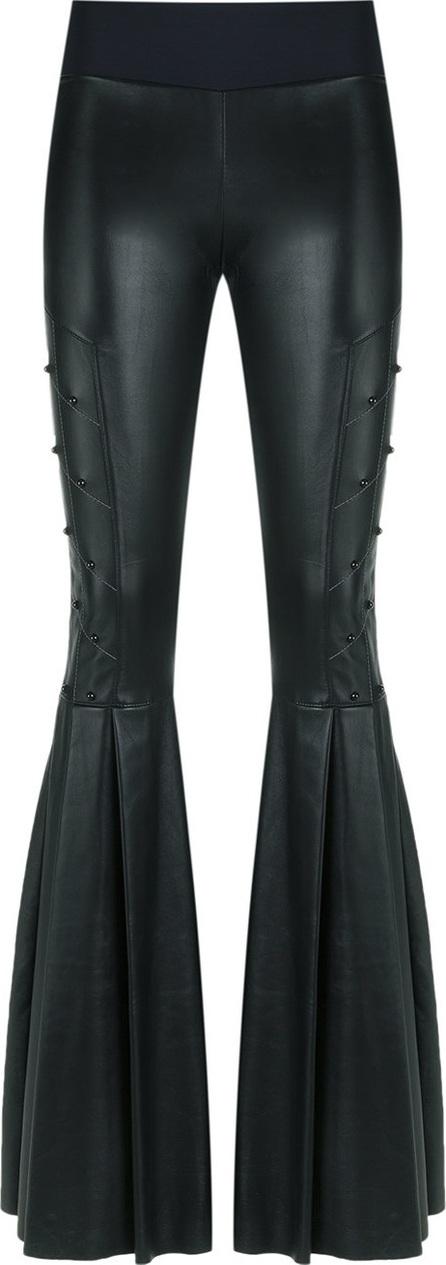 Andrea Bogosian leather flared trousers
