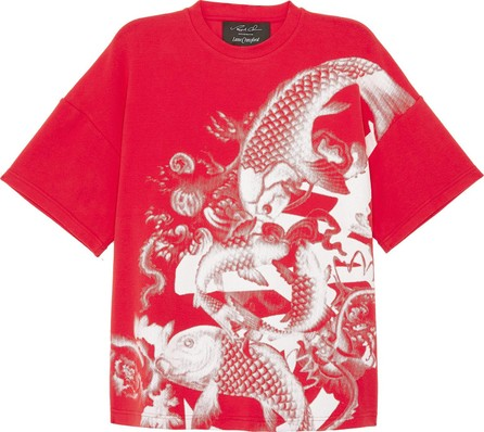 Angel Chen Koi fish graphic print unisex T-shirt