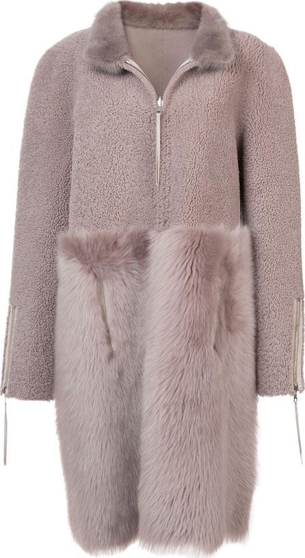 Oscar De La Renta Zipped fur coat