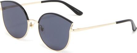 Stephane + Christian 'Dew' contrast browline metal cat eye sunglasses