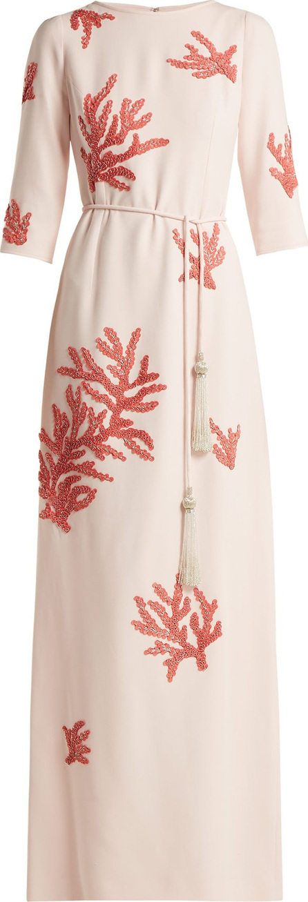 Andrew Gn Embroidered crepe gown