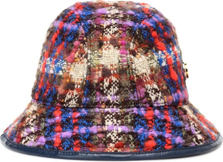 Gucci Checked wool-blend bucket hat