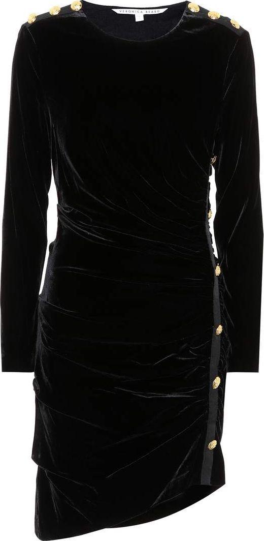 Veronica Beard - Ira ruched velvet dress