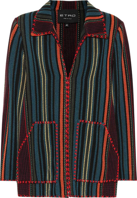 Etro Embroidered wool-blend jacket