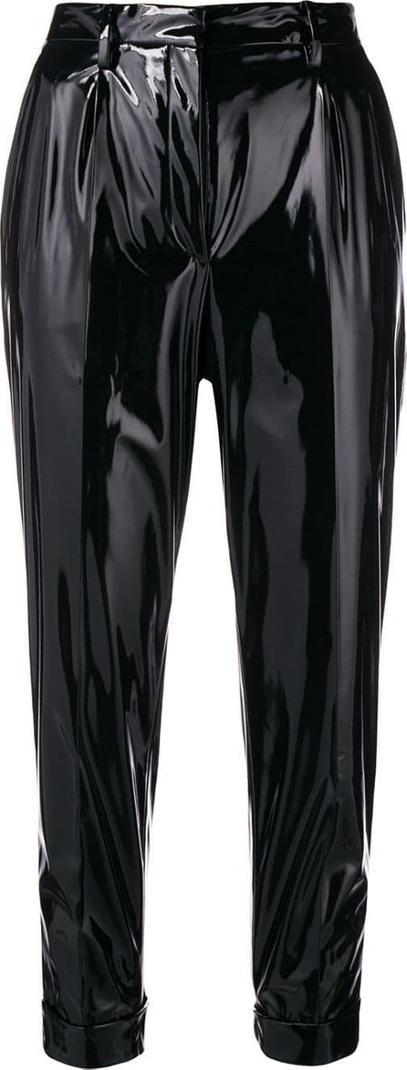 Nº21 Vinyl slim trousers
