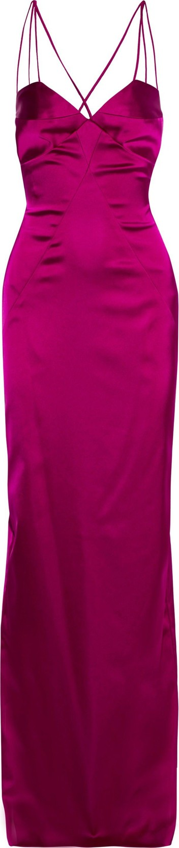 Black Halo EVE by Laurel Berman Behati open-back stretch-satin gown