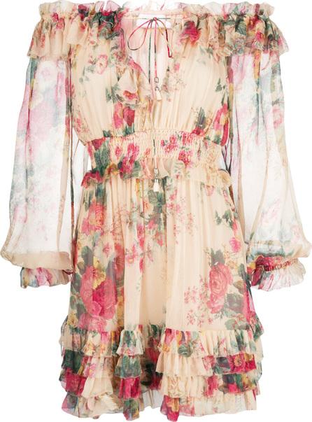 Zimmermann Floral prit ruffle trim dress