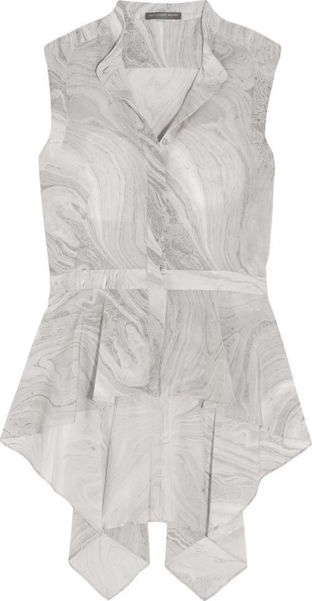 Stella McCartney Ruffled printed silk top
