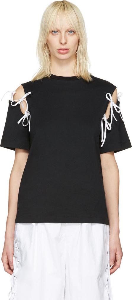 FACETASM Black Tie Shoulder T-Shirt
