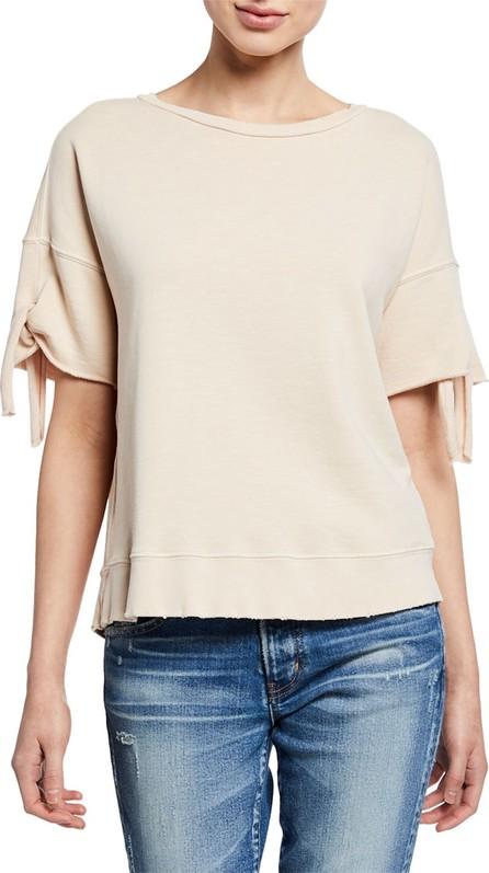 AMO Short-Sleeve Tie-Cuff Sweatshirt