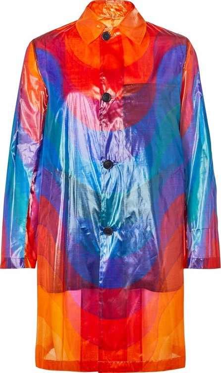 Dries Van Noten Printed Polyamide and Silk-Blend Coat