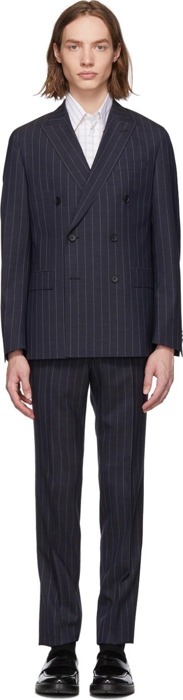 BOSS Hugo Boss Navy Pinstriped Namil Suit