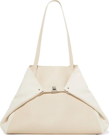 Akris Ai medium two-tone textured-leather shoulder bag
