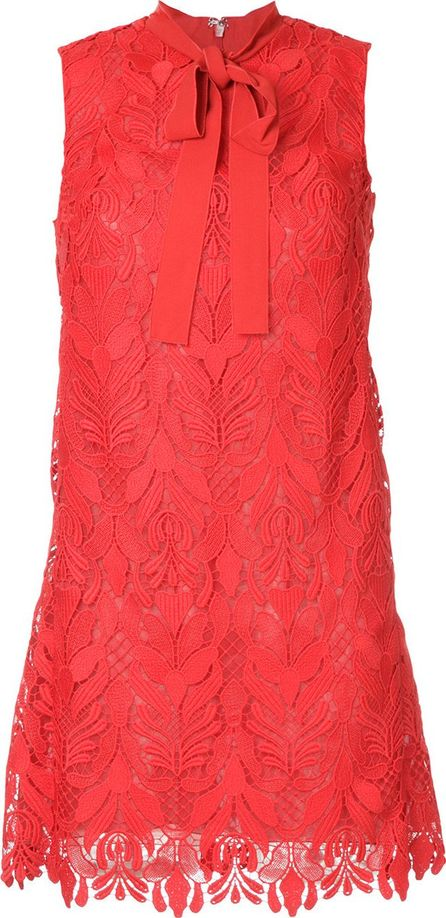 GIAMBA layered floral lace dress
