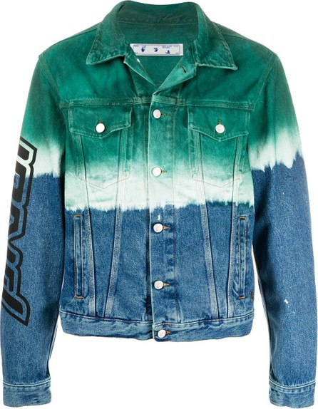 Off White Arrows tie-dye denim jacket