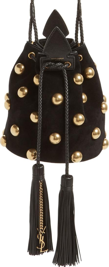 Saint Laurent Small Anja Studded Leather Bucket Bag
