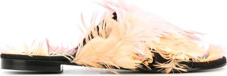Avec ModèRation Feather cross strap sandals
