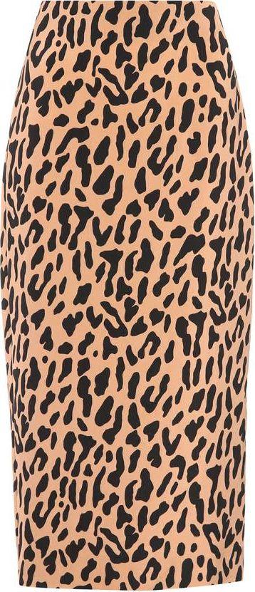 DIANE von FURSTENBERG - Leopard-printed jersey midi skirt
