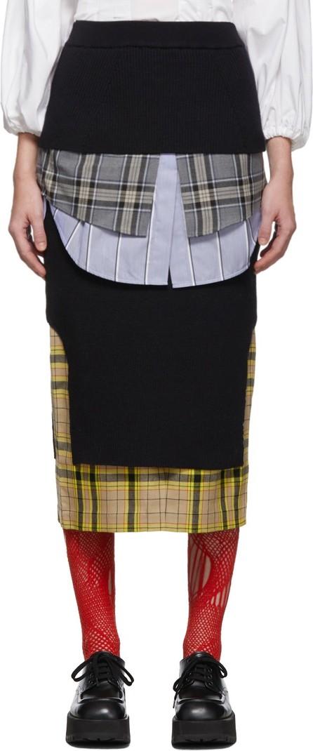Enfold Navy Layered Skirt