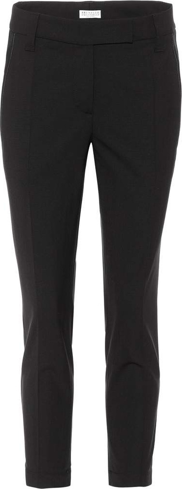 Brunello Cucinelli Wool-blend cropped trousers