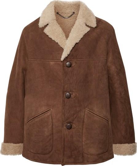 Belstaff Leather-Trimmed Shearling Coat