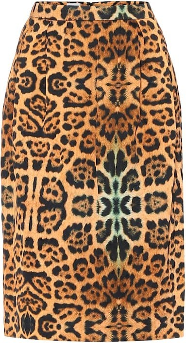 Dries Van Noten High-rise leopard-print midi skirt
