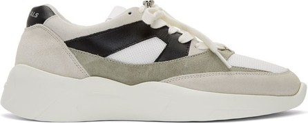 Essentials Grey & Green Distance Sneakers