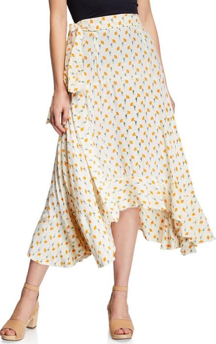 FAITHFULL Kamares Floral-Print Crepe Flounce Skirt