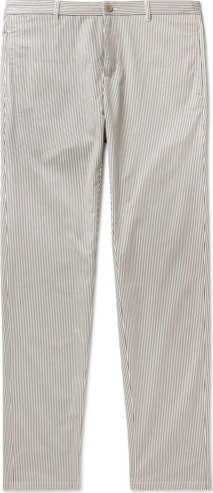A.P.C. Pat Striped Cotton-Blend Gabardine Chinos