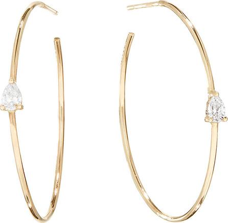 Lana Magic  14k Gold Diamond Pear Hoop Earrings