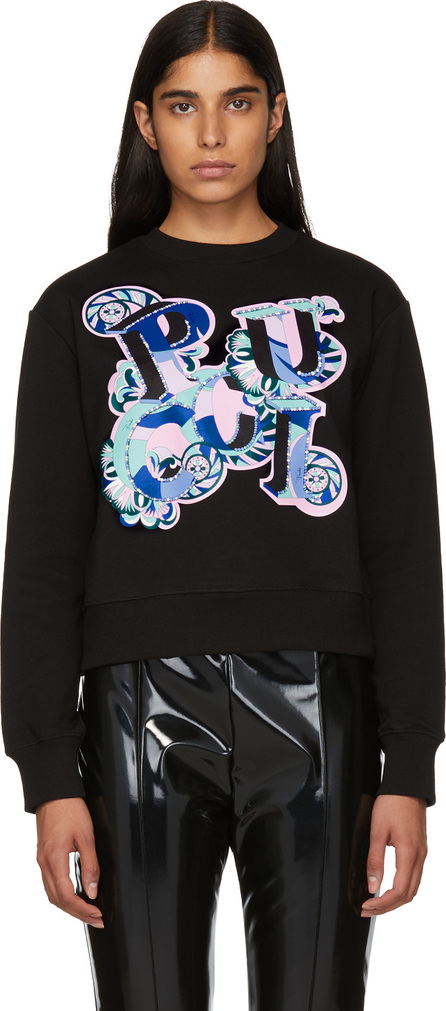 Emilio Pucci Black Pucci Sweatshirt
