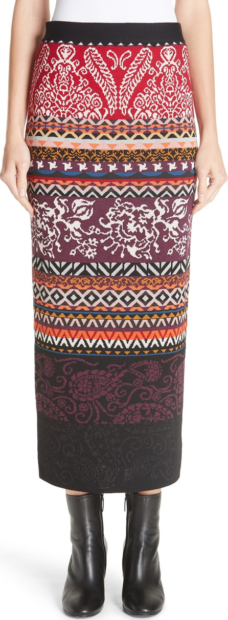 Fuzzi Mixed Fair Isle Midi Skirt