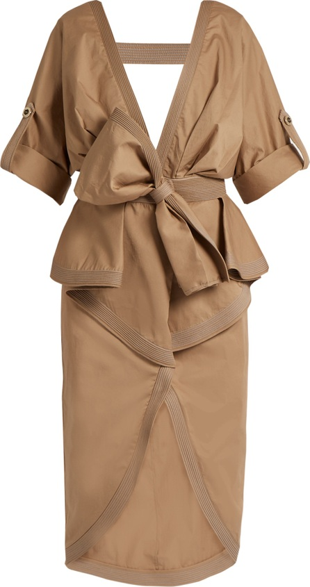 Johanna Ortiz Patagonia peplum-waist stretch-cotton trench coat