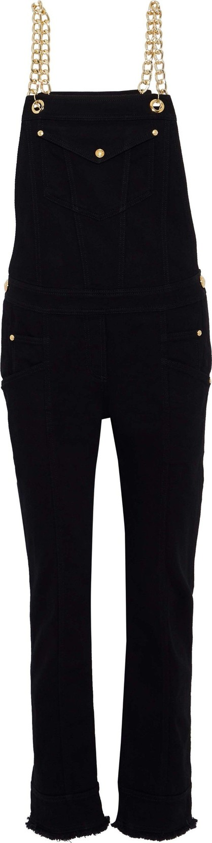 Balmain Chain-embellished denim overalls