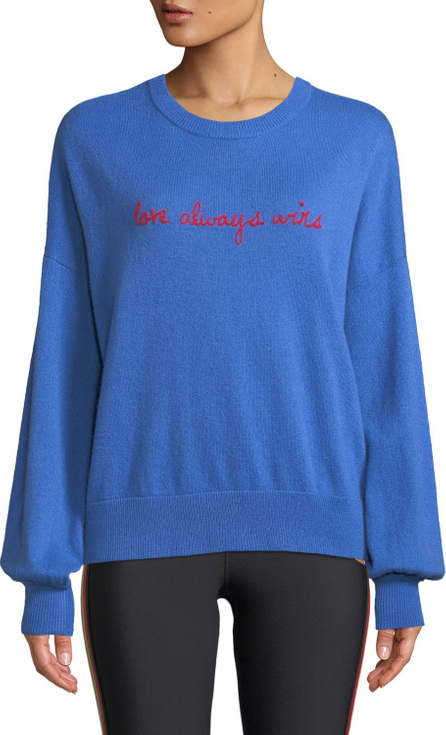 Spiritual Gangster Love Wins Slogan Wool-Cashmere Pullover Sweater