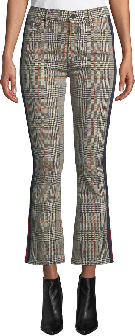 MOTHER The Insider Plaid Ankle Trousers with Racer Stripes
