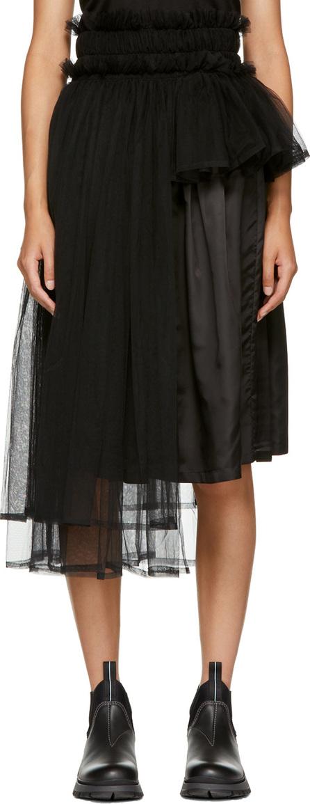 Noir Kei Ninomiya Black Side Tulle Skirt