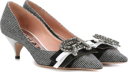 ROCHAS Embellished houndstooth pumps