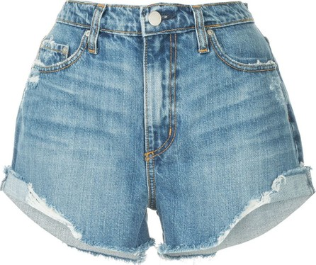 Nobody Denim Skyline frayed denim shorts