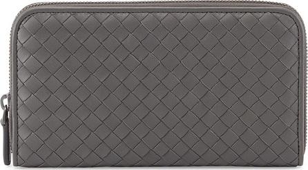 Bottega Veneta Continental Zip-Around Wallet, Gray